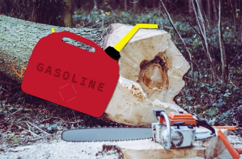 How to mix a chainsaw gas?