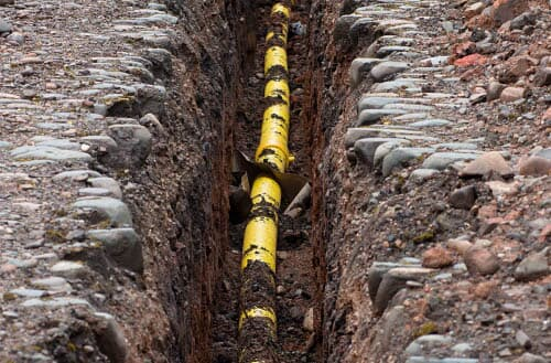How deep are gas lines buried?
