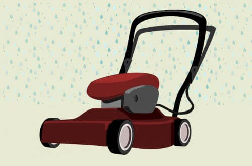 Can lawn mowers get wet?