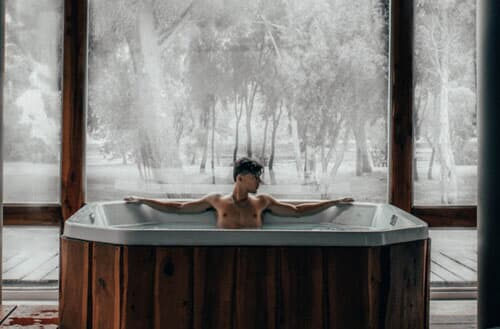 Is a hot tub good for flu?